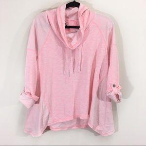 Calvin Klein Pink Neck Hoodie Large Terry Towel